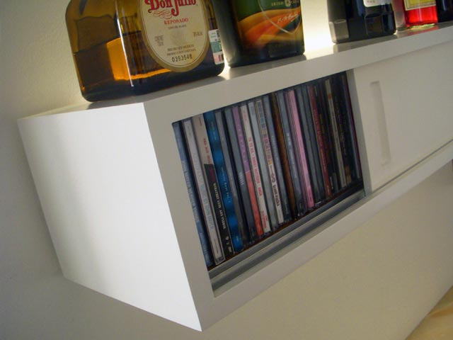 Ga.Ma.Bar. CD storage shelves